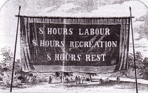 8 Hour Day Banner - 1856