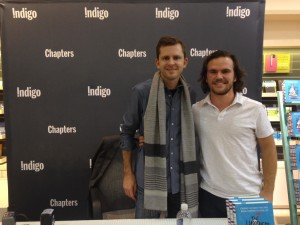 Brad Hussey and Chris Guillebeau at the Happiness of Pursuit Book Tour