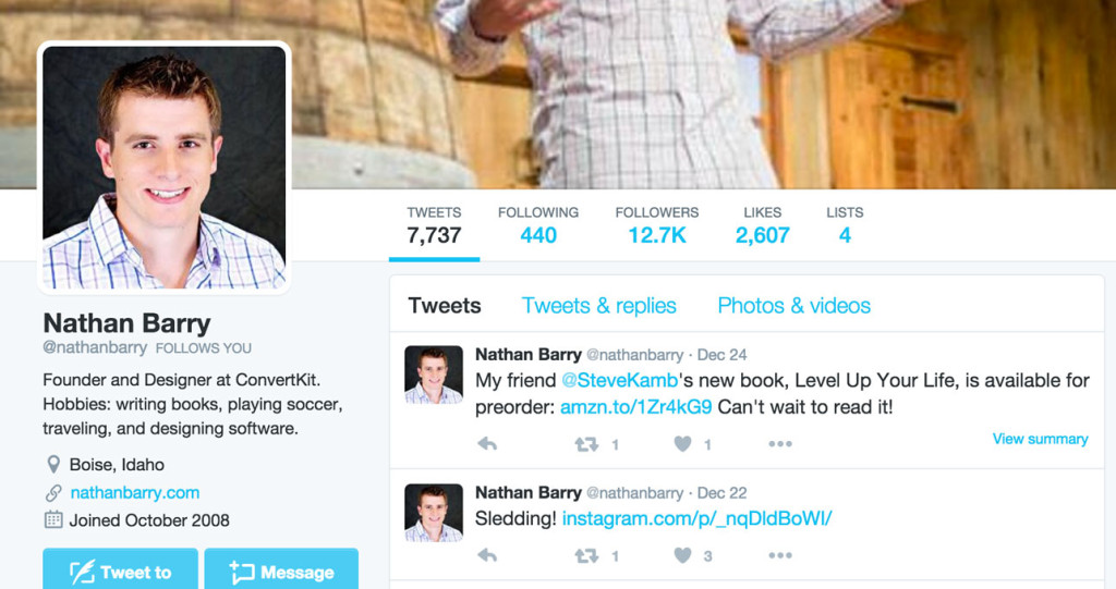 Nathan Barry is a popular design blogger.
