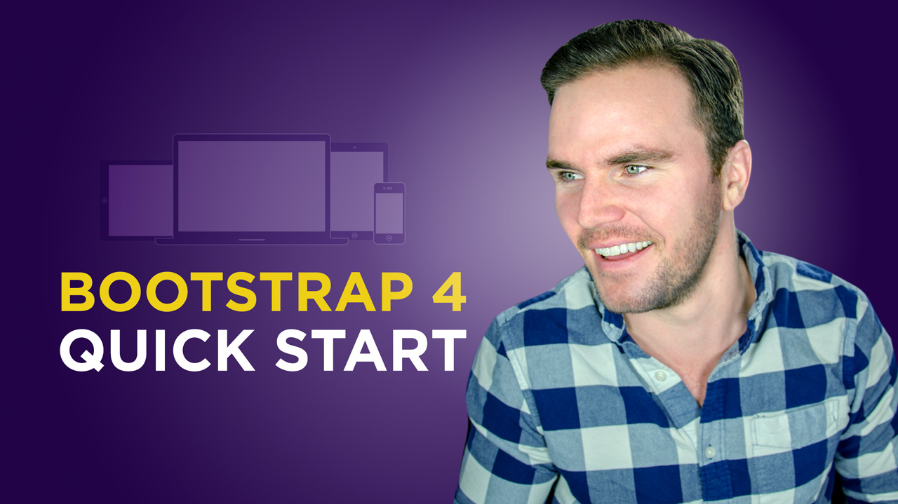 Learn Bootstrap 4 for free with Brad Hussey