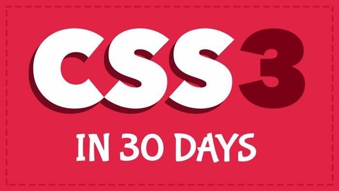 CSS3in30Days
