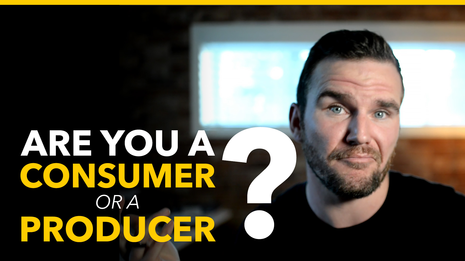 are you a consumer or creator - brad hussey